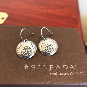 Silpada Sterling Silver Peace Within Earrings